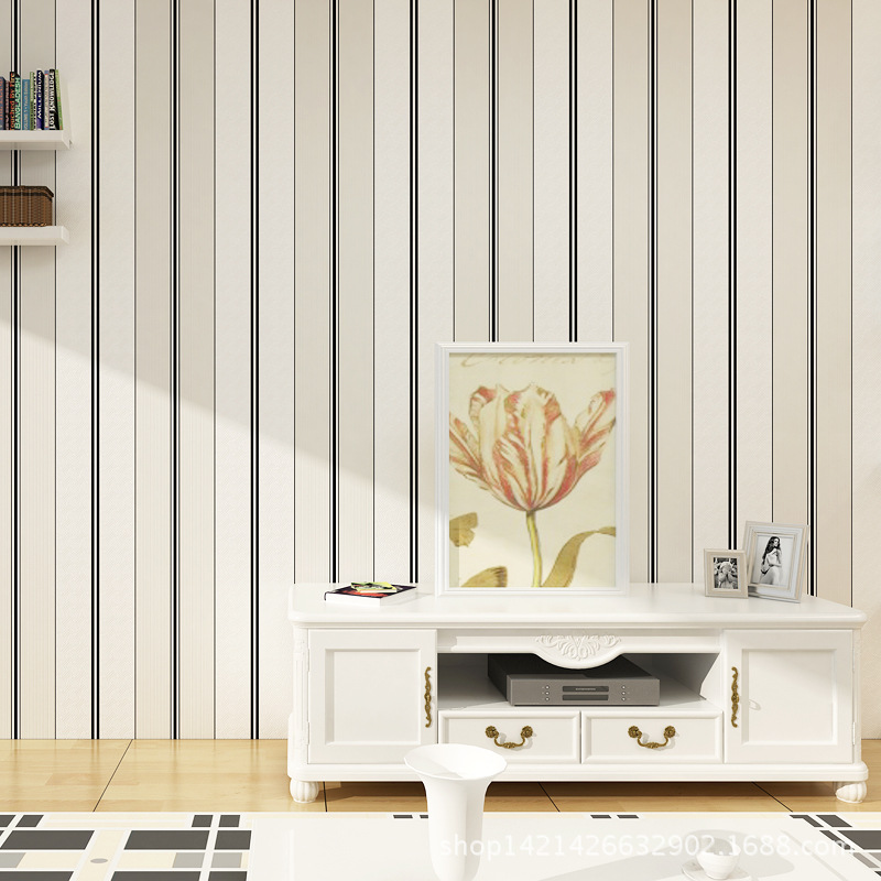 Modern Stripe Wallpaper, Non Woven Wall Paper for Home Bedroom TV Background Living room Wall paper