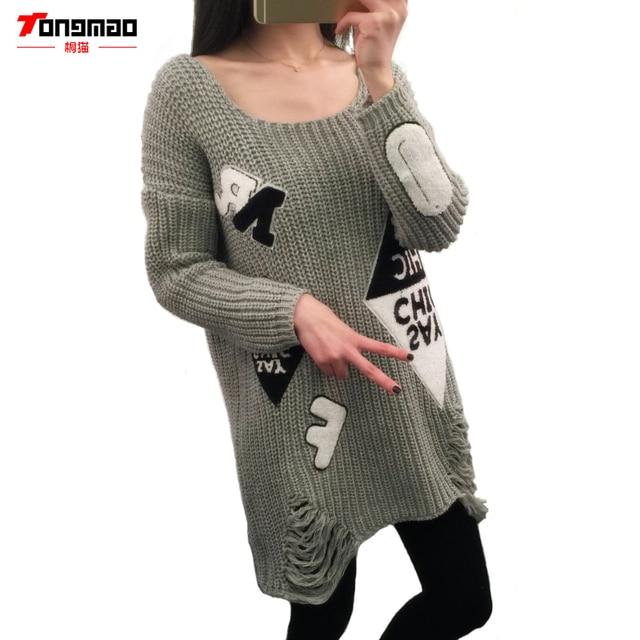 New Autumn Winter Sweater 2016 Women Long Knit Sweaters Coat Hedging Women Polyester China Casual Fashion