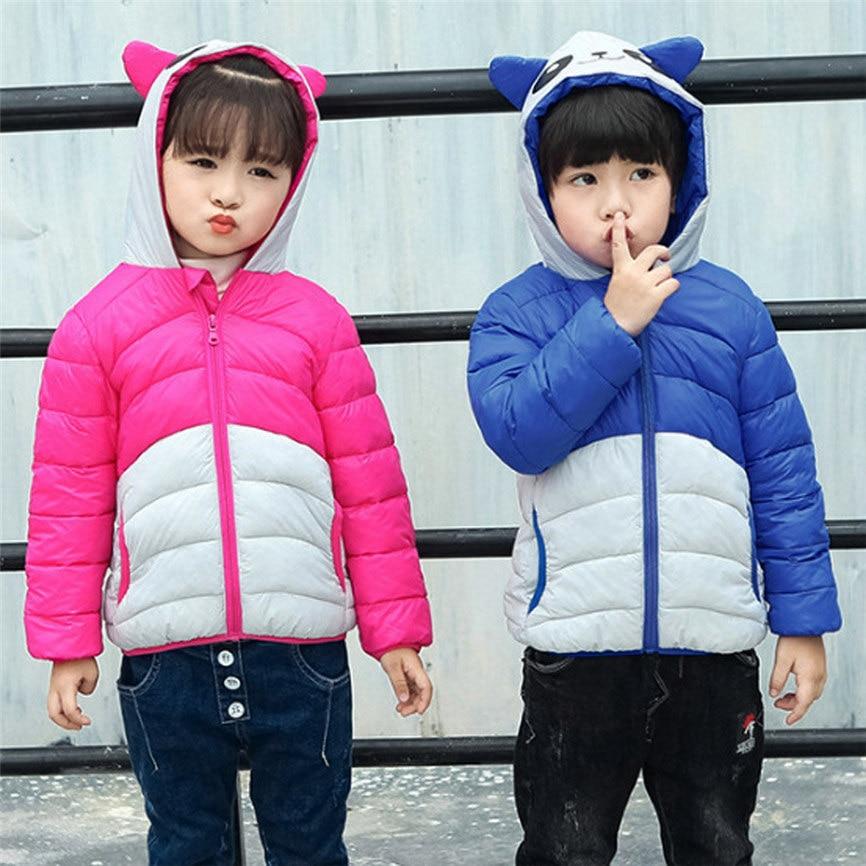 Детская теплая куртка для маленьких мальчиков и девочек дети панда пуховик с капюшоном зимние Теплая парка пальто дропшиппинг 1220