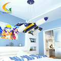 Modern kids room lamps glass lampshade Led pendant lights creative cartoon children's boy bedroom lamp