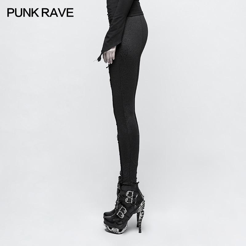 Nuovo stile sexy nero croce griglia a vita alta e il corpo bottompants leggings - 2