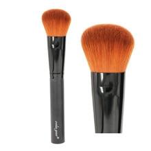 Profissional Face Maquiagem Escova Em Ângulo Rodada Kabuki Pincel para Pó Foundation Blush Líquido Creme Mineral Ferramentas-Apuramento