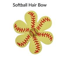 Мода софтбол цветок аксессуары и зажим для волос, софтбол волос Луки, софтбол hairbow, зажим для волос в стиле бейсбола заколки