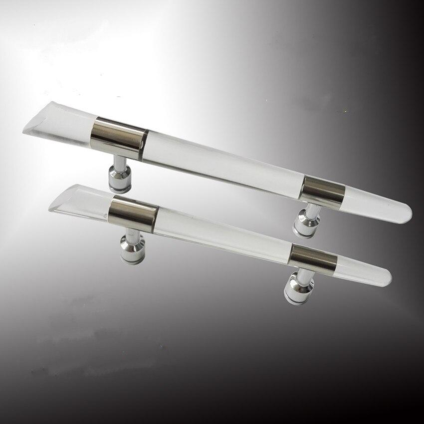 410mm 300mm modern fashion clear actylic shower door handles stainless steel bathroom glass door handles pulls