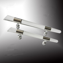 410mm 300mm modern fashion clear actylic shower door handles stainless steel bathroom glass door handles pulls