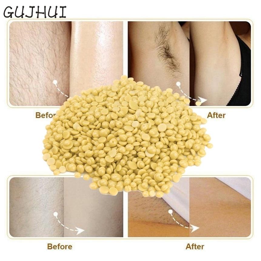 100g Honey Flavor Depilatory Hard Wax Beans Women Men Body Beauty No Strip Hot Film Hair Removal Bean 170801 Drop Shipping
