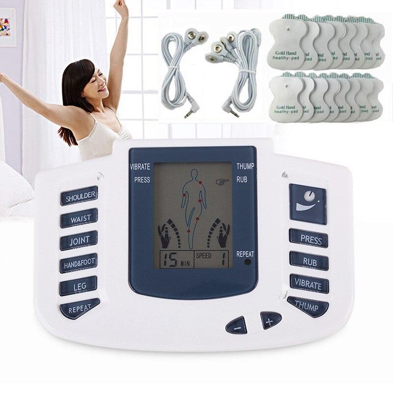 Мышечный Стимулятор с подушечки электроды электронный импульсный фитнес-массажер машина для облегчения боли при артрите тренажер для поху...