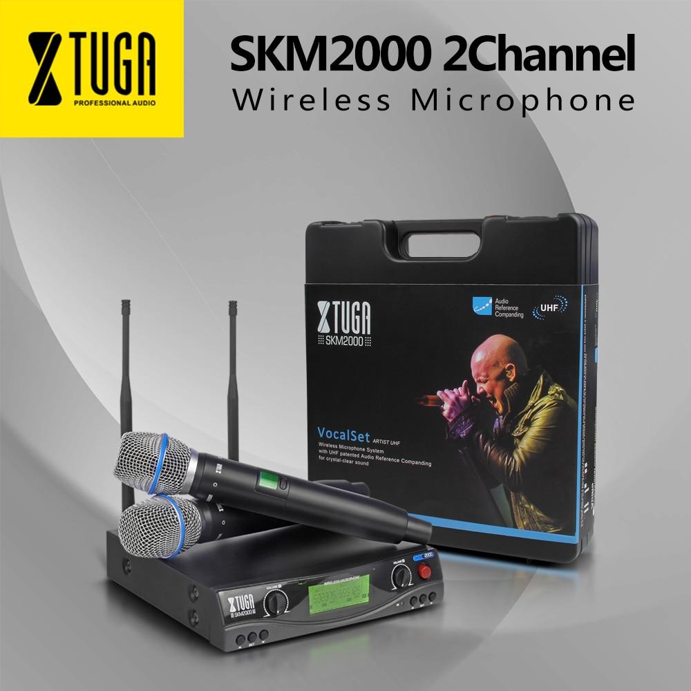 XTUGA Stade performance microphone sans fil SKM2000 Top qualité Automatique fréquence bar partie chant