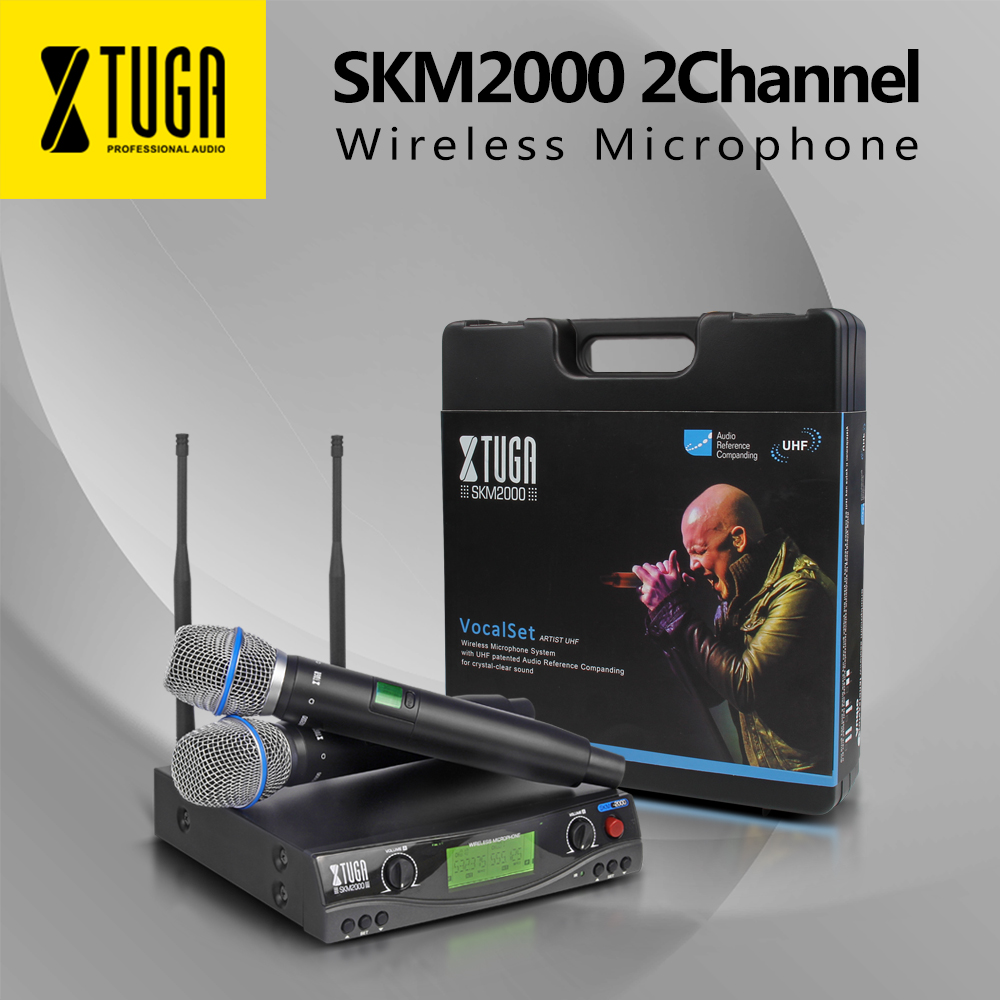 XTUGA Stage Performance Wireless Microphone SKM2000 Top Quality  Automatic Frequency Bar Party Singing