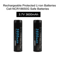 2pcs Lot Soshine 18650 Li Ion Battery 3 7V 3600mAh Rechargeable Protected Li Ion Batteries Cell