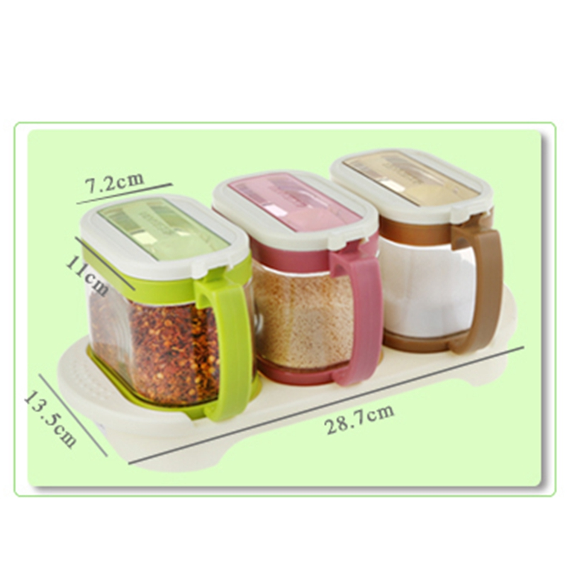 2pcs Or 3pcsset Kitchen Spice Jar bottle Seasoning Boxes Jars With