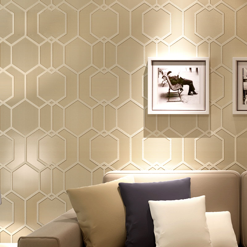 Modern Simple 3D Stereoscopic Geometric Pattern Bedroom Living Room Non-woven Wallpaper Wall Covering Papel De Parede Home Decor modern minimalist grid non woven wallpaper for walls bedroom living room sofa full of paving wall covering wallpaper home decor