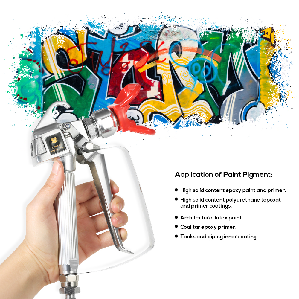 Image 3 - 3600PSI High Pressure Airless Paint Spray Gun airbrush +517 Spray Tip +Nozzle Guard for Wagner Titan Pump Spraying Machine-in Spray Guns from Tools on