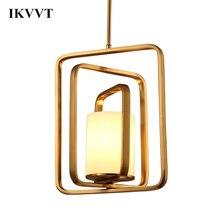 купить IKVVT Pendant Lights E27 Modern Golden Hanging Lamp Loft Creative Personality Light Fixtures For Restaurant Dining Living Room по цене 7475.76 рублей