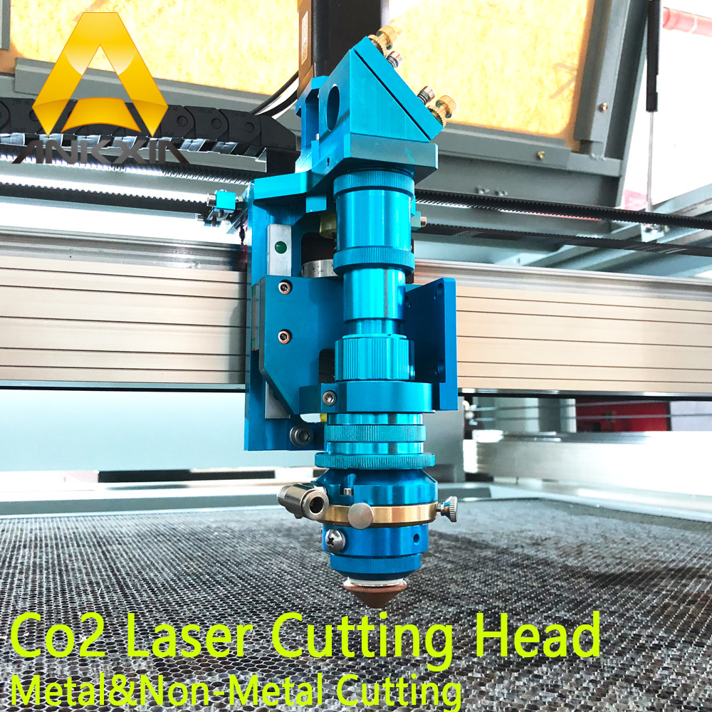 150W To 500W Co2 Laser Metal Cutting Head For Metal Non-Metal Cut Auto Focus Hybrid Machine