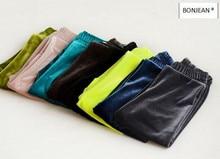 Y019 2017 Nouveau Printemps Bébé Fille Legging Velours Solide Fille Pantalon Fille Maigre Pantalon Enfants de Vêtements