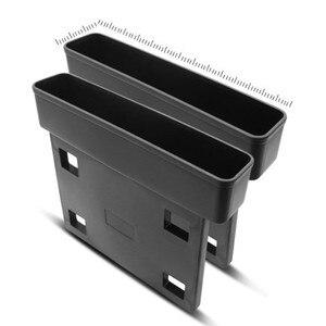 Image 2 - Receptor de asiento de coche negro, consola de relleno, bolsillo lateral, llena el espacio entre el asiento, accesorios para coche, 1 ud.