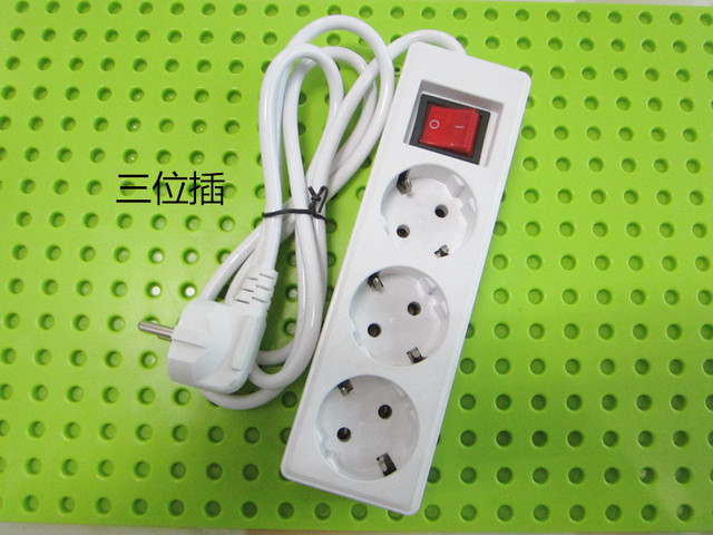 White 250V 10A 3 4 5 EU power adaptor outlet strip German wiring board  extension socket power cord converter with switch-in Electrical Sockets  from Home ...