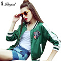 Women Bomber Jacket 2017 Female Brand Baseball Jackets Casual Basic Coat Fashion Embroidered Woman Outerwear chaquetas mujer