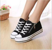 Free shipping!!!  In the fall 2016 new fashion women's shoes is comfortable joker bond with black and white canvas shoes