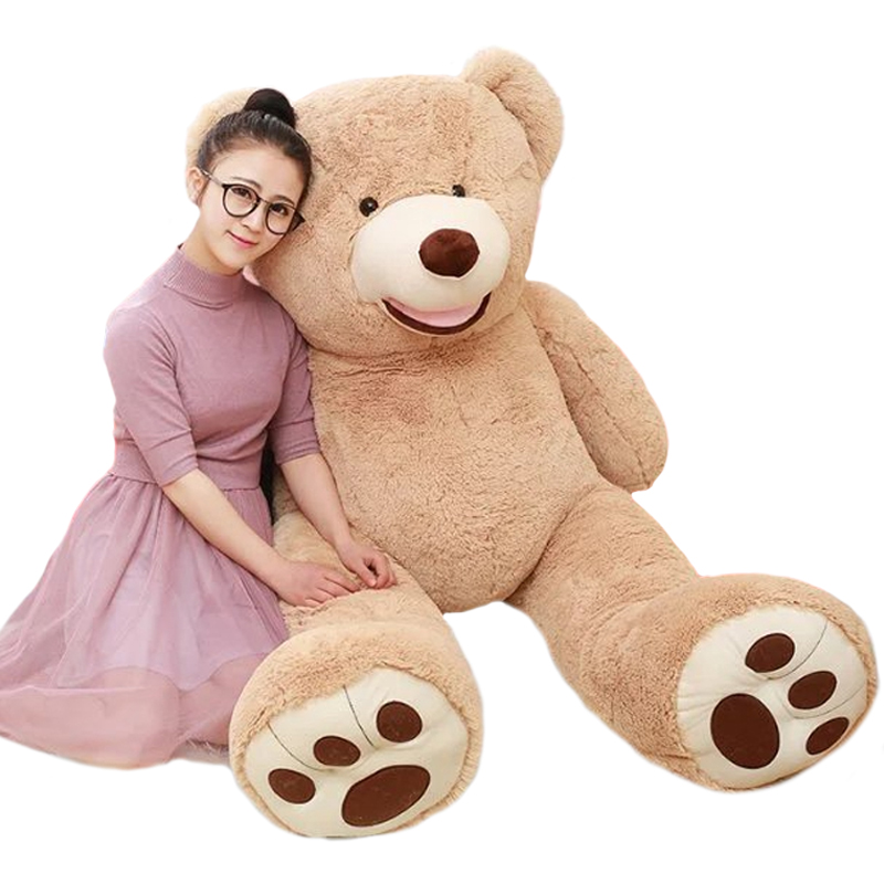 1pc 100cm High Quality Plush Toy Stuffed Teddy Bear American Bear Popular Gift Classical Toy For Kid 2pcs 12 30cm plush toy stuffed toy super quality soar goofy