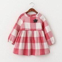 Маленькая Девочка Одежда Платья Прекрасный Красный Плед Шаблон Маленькая Девочка Одежда Конгрессах Марка Звезда Детская Одежда Платья Для Маленькой Девочки