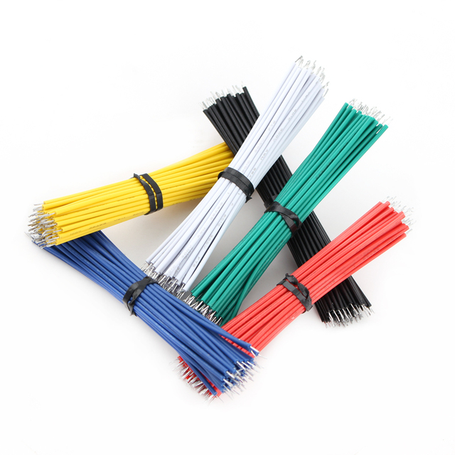 24AWG Tin-Plated Breadboard Jumper Cable Wire 8cm 24AWG Fly Jumper Wire Cable Tin Conductor Wires 1007-24AWG 1