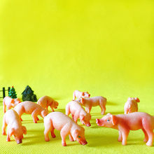 New~10Pcs/pig/piggy/lovely farm animal/fairy garden gnome/moss terrarium/crafts/bonsai/figurine/home table decor/DIY supplies(China)
