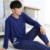Pijamas de los hombres de Primavera Y Otoño Suéter de Algodón Pijamas Ropa de Dormir Pijamas Pijama Conjunto de Salón Ocasional de Los Hombres