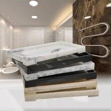 Простая атмосфера туалетных принадлежностей Коробка для хранения ванной поднос ванная комната дезинфицирующее средство бутылки полотенца лоток N305