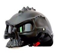 Hot Sales Masei 489 Punk Skull Motorcycle Helmet Half Face Helmet Motorbike Capacetes Casco Retro Casque