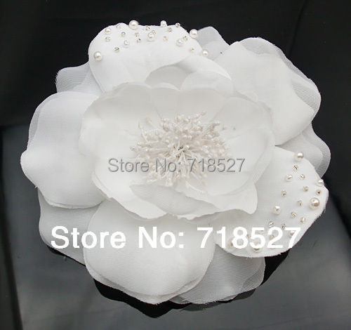 5 pieces 55 big silky pure white lace bridal hair flower clip 5 pieces 55 big silky pure white lace bridal hair flower clip pearl crystal brooches mightylinksfo