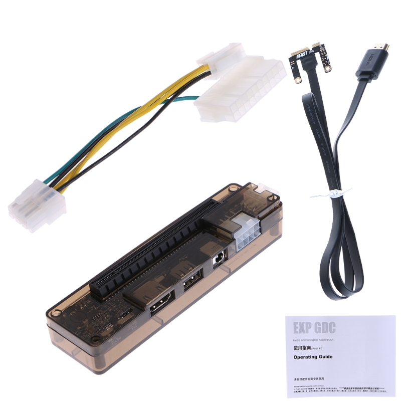 PCIe PCI-E V8.4D EXP GDC Station d'accueil pour carte vidéo externe pour ordinateur portable/Station d'accueil pour ordinateur portable (Version d'interface Mini PCI-E) nouvelle arrivée