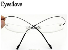 Eyesilove Retail 1pcs non-screw rimless optical glasses frames memory titanium eyewear for prescription many colors 518