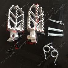 الفولاذ المقاوم للصدأ دراجة نارية Footpegs القدم أوتاد الراحة ل حفرة الترابية دراجة نارية النضد برو XR50 CRF50 CRF70 SSR Thumpstar موتوكروس