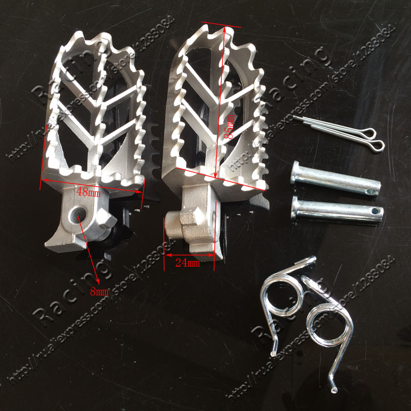 Stainless Steel Motorcycle Footpegs Foot Pegs Rest For Pit Dirt Motor Bike Pitster Pro XR50 CRF50 CRF70 SSR Thumpstar Motocross 428h chain rear sprocket 37 tooth 58mm diameter for crf50 xr50 dirt pit bike motorcycle motocross 428 gear fit 10inch rear wheel