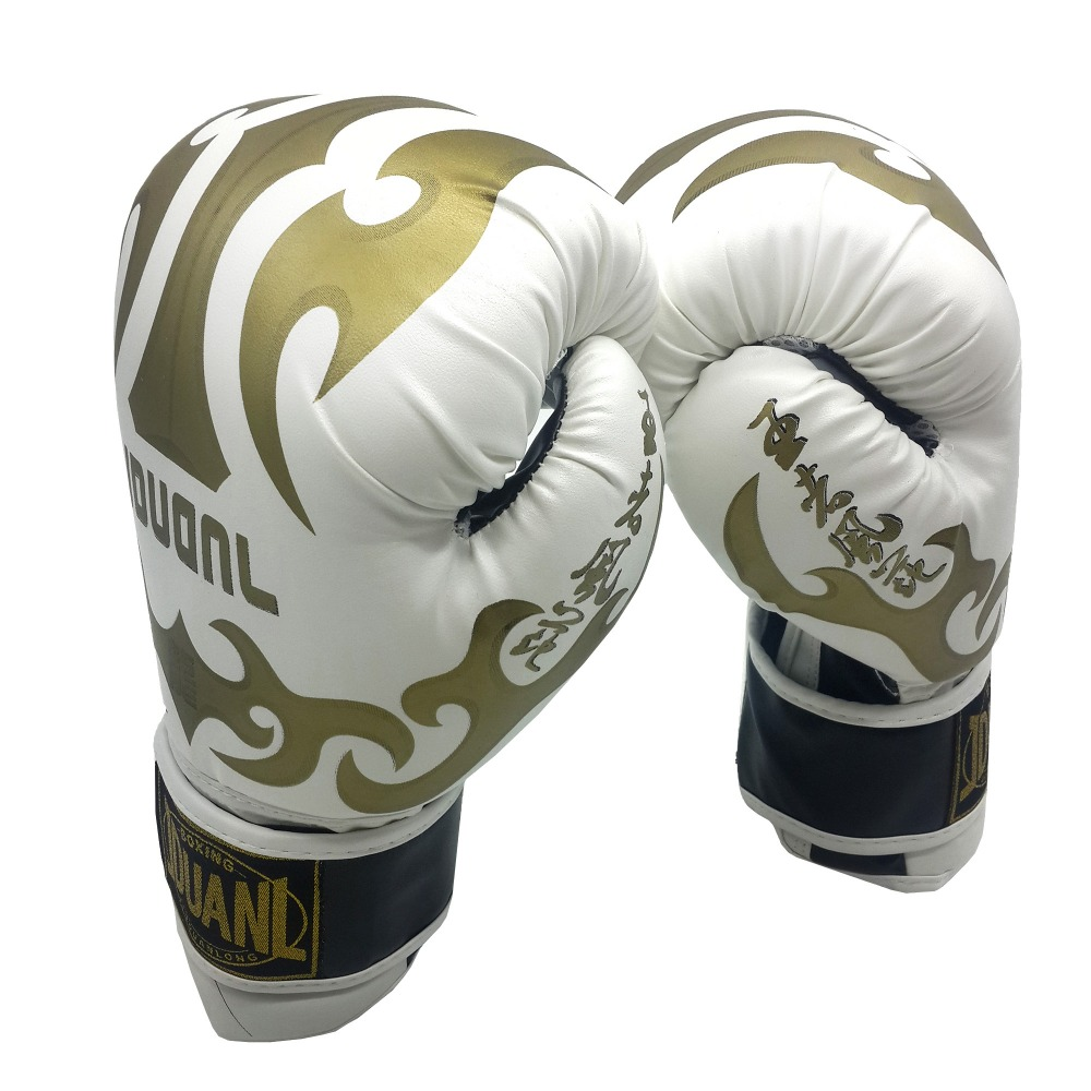 цена на Original 3 colors 10oz PU mateial high quality breathable male fitness boxing gloves muay thai for adult free shipping