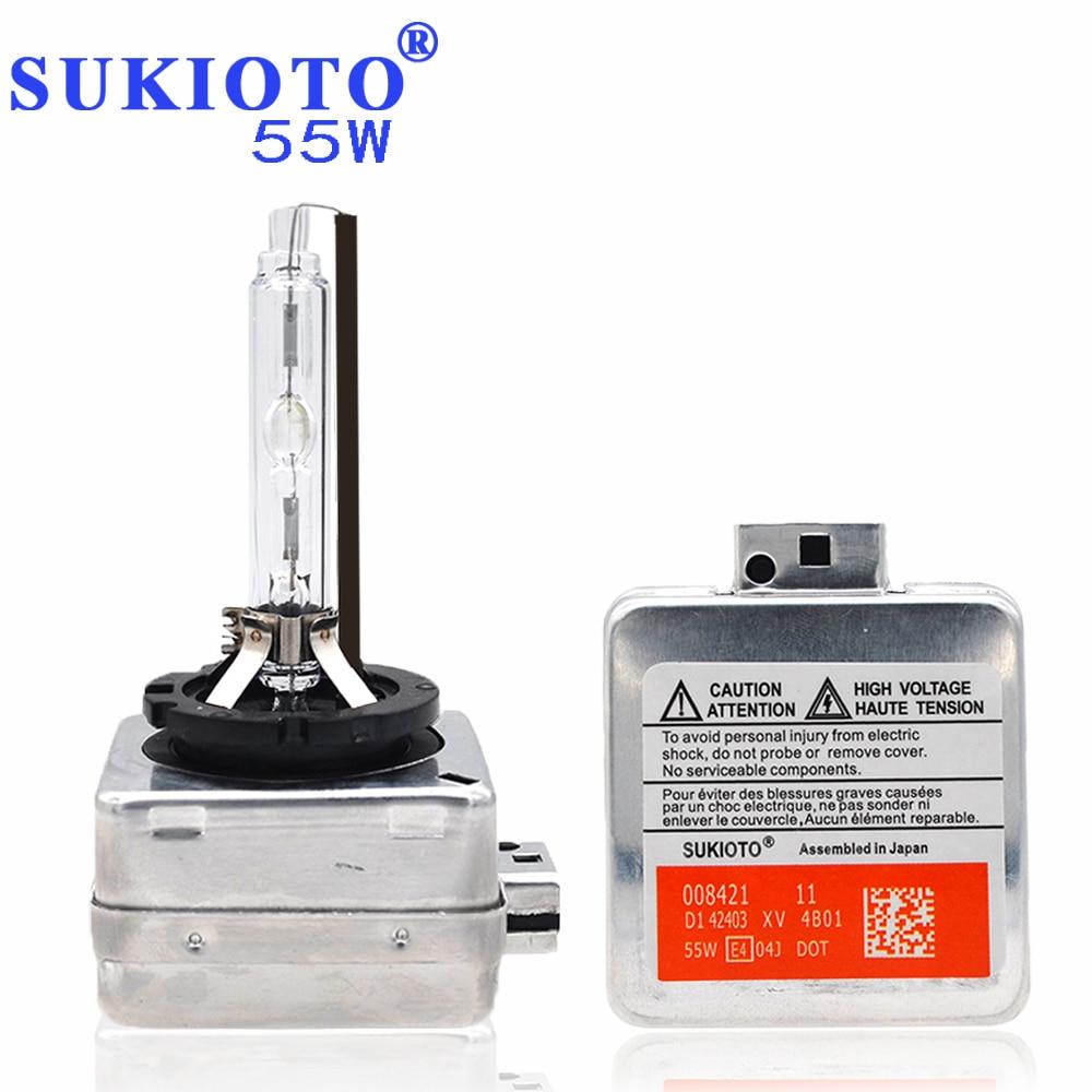 SUKIOTO OEM 55W Xenon D1S Xenon Lamp hid xenon bulb d3s d1s 6000K 4300K 5000K 8000K 10000K for D1S D3S ballast hid headlight kit 63117237647 xenon d1s headlight ballast computer control for bmw1 7237647