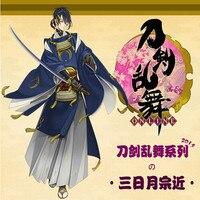 Лидер продаж Новое поступление осень зима синий японского аниме Touken Ranbu онлайн Mikazuki munechika высокое качество Косплэй костюм xh052