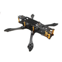 FLYWOO Mr.Croc Fiber 5mm Arm Gloden 225mm 5 Inch FPV Freestyle Carbon Racing FPV Frame Kit For RC Drone motor?propeller