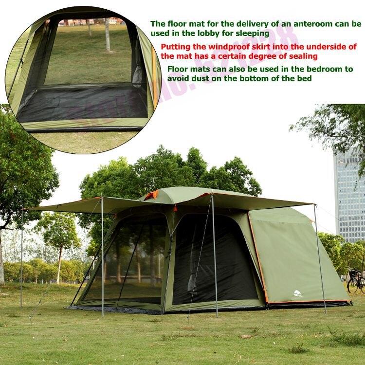 Août luxe 1 chambre 1 salon 5 6 8 personne UV imperméable randonnée conduite voyage plage fête famille Camping extérieur tente - 4