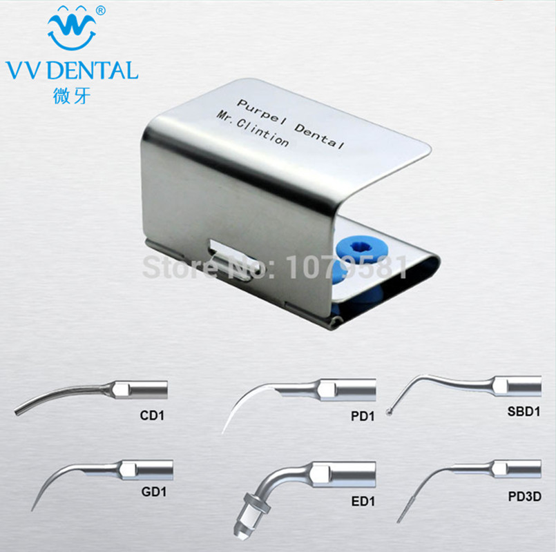 1 set SMUKS Scaler Multi-use Kit Silver for DTE GD1 Remove the calcification and bad filling material dental endodontia 1 set seks scaler endo kit silver dental material stainless steel dental equipment dentistry for dte products odontologia