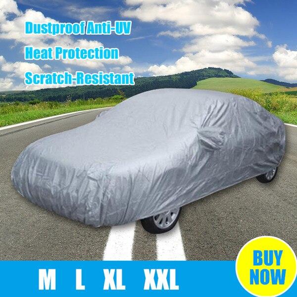 150D Oxford Sedans up to 530 cm Basics Silver Weatherproof Car Cover