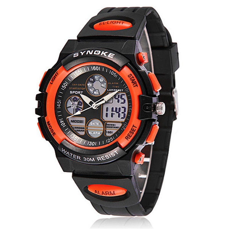 2019 Fashion Waterproof Sports Watches Child Boy's Electronic Watch Multifunction Wrist Watches