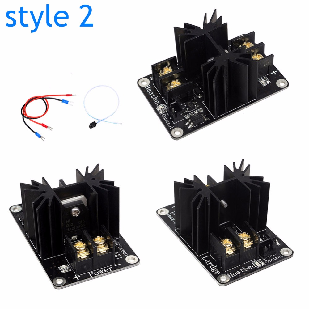 3D Printer Parts General Add on Heated Bed Power Expansion Module High Current 210A MOSFET Upgrade aliexpress com buy 3d printer parts general add on heated bed  at virtualis.co