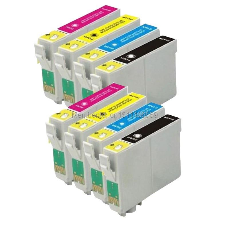 8pk T1281 T1282 T1283 T1284 Сия картридждері үшін Stylus sx435W sx420W sx130 sx425W BX305F BX305FW Сиялы принтер 1285XL