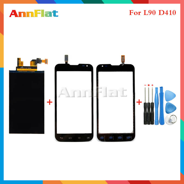 High Quality 4.7 For LG Optimus Series III L90 Dual Sim Card D410 Lcd Display Screen + Touch Screen Digitizer Sensor + Tools