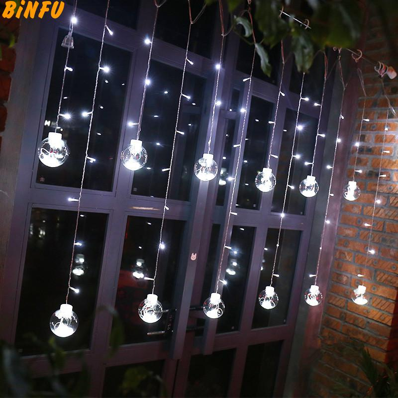New Year's Garland,fairy lamps,christmas Lights Indoor Led Lights Decoration For Home Holiday Led Ball Light Led String Lights