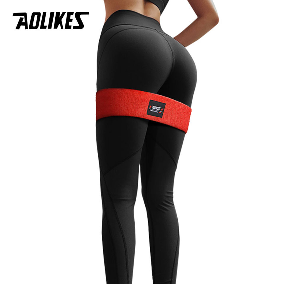 Лента AOLIKES унисекс, эластичная петля для упражнений на бедра, ягодицы, Скэт-ленты, нескользящий дизайн-2