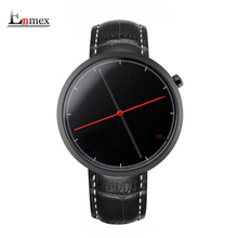 Фотография  men gift Enmex creative cool wristwatch two balance hands with Fine scale leather strap fashion Stylish clock quartz watch
